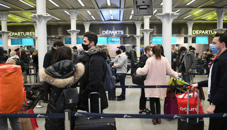 Bans on U.K. Travelers Are Imposed Amid Concern Over New
