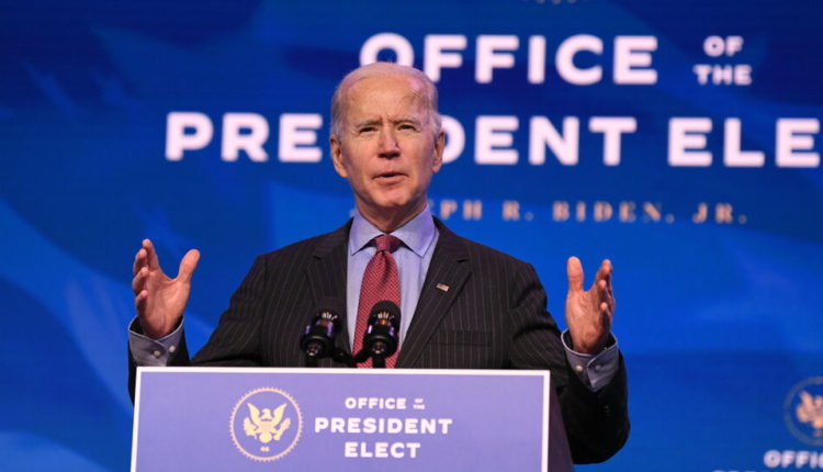 Biden pledges action on the pandemic and the economy.