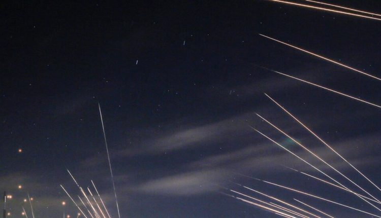 In pictures: Fire and thunder fill the night sky as