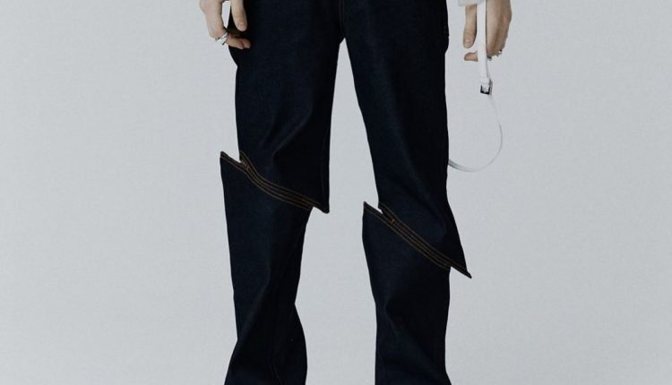 Unevenly Stitched Jeans Will Make You Do a Double Take